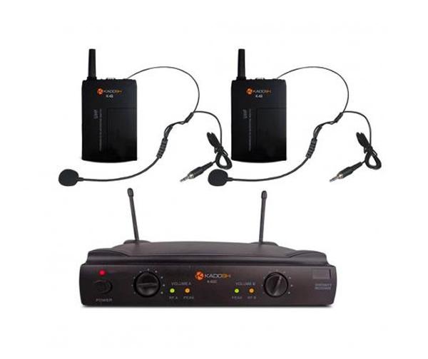 Microfone Profissional Headset Duplo Uhf Kadosh
