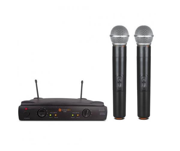 Microfone Profissional de Mão Duplo Uhf Kadosh